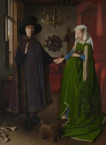 Jan van Eyck, Portrait of Giovanni (?) Arnolfini and his Wife, 1434, © The National Gallery, London