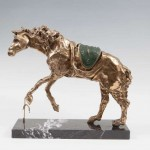 Salvador Dali's Le Cheval a la Montre Molle (Horse Saddled with Time) made 19,000 at hammer.