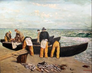Unloading the Catch by Sean Keating (1889-1977) (40,000-60,000).