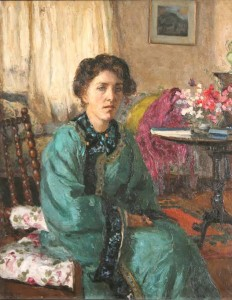 Portrait of Mrs. George Russell by Frances Baker (1873-1944) (3,000-5,000).