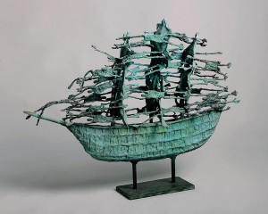John Behan (b1932)  Ghost Famine Ship (unique) (15,000-20,000)