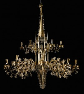 The Gothic chandelier at Sotheby's.