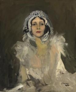 Sir John Lavery, R.A., R.S.A., R.H.A. (1856-1941) Anna Pavlova as The Swan (Study)