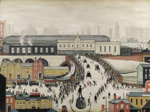 L.S. Lowry Station Approach, Manchester dated 1960 est. £2-3 million, sold for £2,322,500