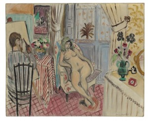 L'artiste et le modèle nu, 1921, by Henri Matisse courtesy Christie's Images Ltd., 2014.