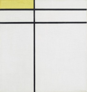 Composition A, with Double Line and Yellow, 1935, by Piet Mondrian courtesy Christie's Images Ltd., 2014.