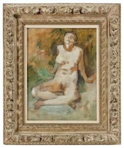 Edgar Degas - Nu assis jambes croissees