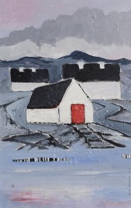 John Desmond - Island Sheds with Red Door.