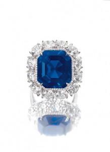 The Imperial Kashmir A 17.16-Carat Step-Cut Kashmir Sapphire And Diamond Ring (US$2.8 – 3.6 million)