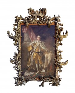 Studio of Allan Ramsay - Full length portrait of King George III in coronation robes.