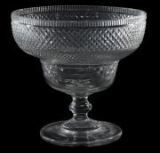 An Irish cut glass pedestal bowl c1800 (£200-300).
