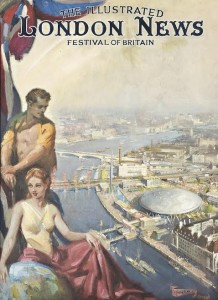 Terence Cuneo (1907-1996) Design for the front cover of the Festival of Britain edition of The Illustrated London News, 1951 (£10,000-15,000).  Courtesy Christie's Images Ltd., 2014