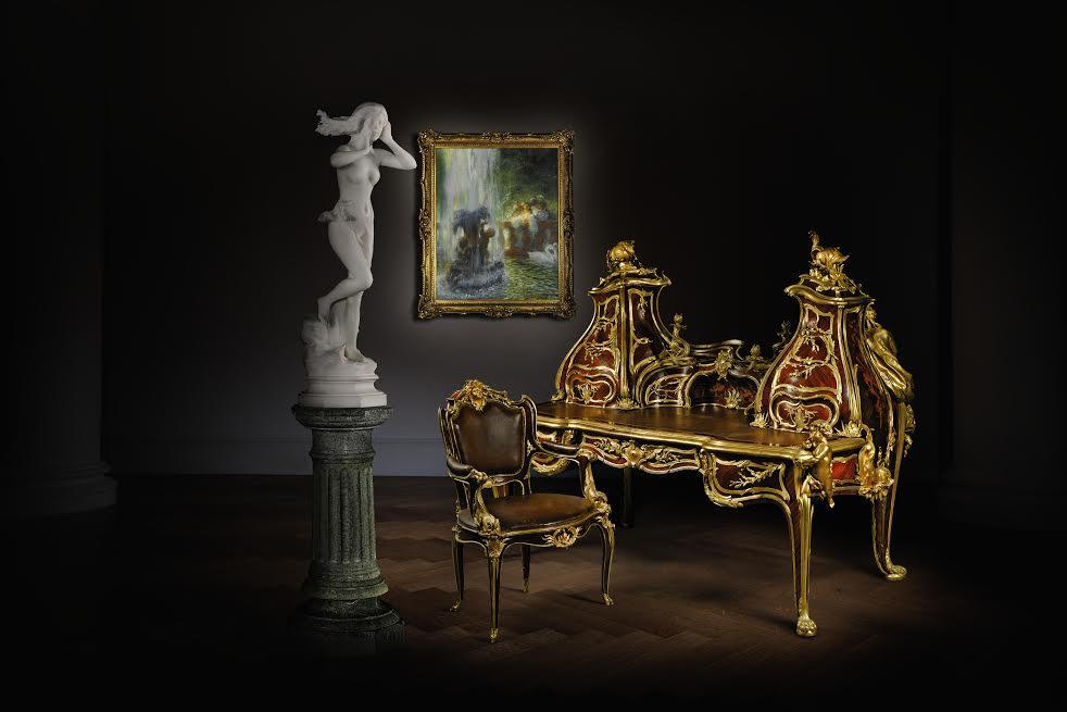 Grand bureau by francois linke highlights sotheby s show for Grand bureau