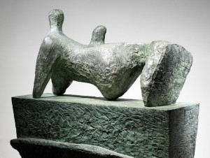 Henry Moore (1898-1986) - Reclining Figure on a Pedestal.
