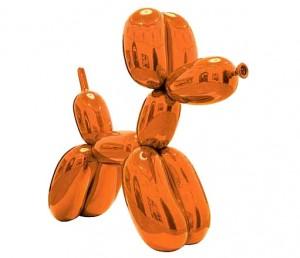 Jeff Koons Balloon Dog Orange Courtesy Christie's Images Ltd., 2014