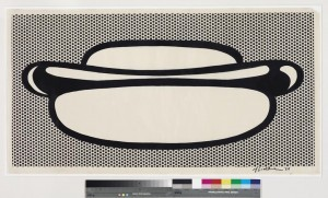 ROY LICHTENSTEIN (1923-1997) Hot Dog ($1.5-2 million). Courtesy Christie's Images Ltd., 2014.