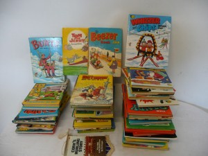 A collection of old annuals.