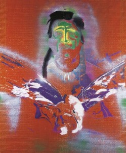 Sigmar Polke - Indianer mit Adler (Indian with Eagle) (£1.5-2 million).  Courtesy Christie's Images Ltd., 2014.
