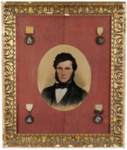Joseph Randall from Wexford and his Arctic and Crimean medals.