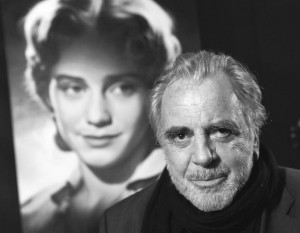 Maximilian Schell in front of a picture of his most intimate film, My Sister Maria, 2002.Copyright Prounenfilm.
