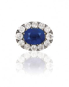 THE LATE 19TH CENTURY SAPPHIRE AND DIAMOND BROOCH (£400,000-500,000).