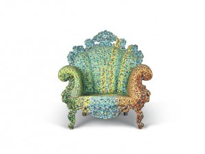 ALESSANDRO MENDINI (B. 1931) AN EARLY 'POLTRONA DI PROUST' ARMCHAIR, DESIGNED 1978, THIS EXAMPLE EXECUTED EARLY 1980s  produced for Studio Alchimia, painted by Franco Migliaccio (£40,000-60,000) Courtesy Christie's Images Ltd., 2014