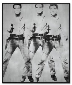 Andy Warhol (1928-1987) Triple Elvis [Ferus Type] 1963 - estimate in the region of $60 million. Courtesy Christie's Images Ltd., 2014