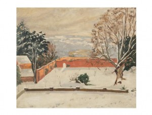 Sir Winston Spencer Churchill, The Weald of Kent under snow, circa 1935 Oil on canvas, 20 by 24in. Est. £250,000-350,000 Copyright © Churchill Heritage Ltd