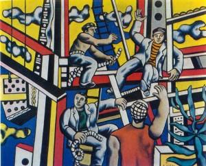 FERNAND LÉGER, Les constructeurs avec arbre, oil on canvas, 1949-1950, $16-22million.  Courtesy Christie's Images Ltd., 2014