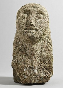 Celtic Irish stone head, granite (5,000-7,000).
