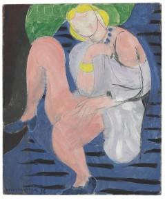 HENRI MATISSE, Nu assis, fond bleu, oil on canvas, 1936, $4-6million. Courtesy Christie's Images ltd., 2014