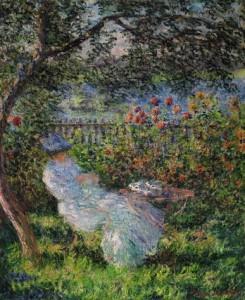 Claude Monet Alice Hoschedé au jardin