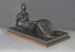 Henry Moore, Working Model for Reclining Figure: Bone Skirt, 1977-1979  © The Henry Moore Foundation.