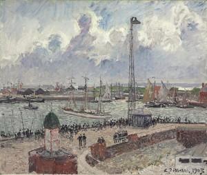 CAMILLE PISSARRO, L'Anse des Pilotes et le Brise-Lames Est, Le Havre (1903), $1,000,000-1,500,000 Courtesy Christies Images Ltd., 2014