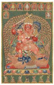 The Imperial emboridered silk Thangka Yongle presentation mark (1402-1424).