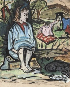 Evie Hone HRHA (1894-1955) - Tinkers' Child (1,500-2,500).