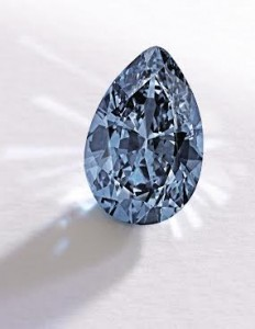This 9.75 carat blue diamond sold for a world record price.