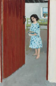 Gerard Dillon - Girl at a Door.