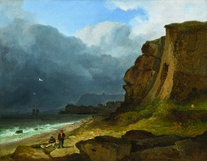 James Arthur O'Connor (c1792-1841) - A Coastal Scene.