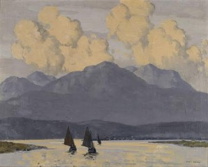 The Fishing Fleet, Co. Galway by Paul Henry.