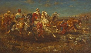 Aloysius O'Kelly (1853-1936) The Desert Charge ( 6,000-8,000).