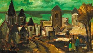 Markey Robinson (1918-1999) - Entering the Old City (5,000-7,000).
