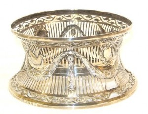 An Irish silver dish ring.