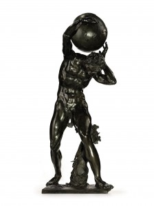 A Bronze Bacchic Figure Supporting The Globe by Adriaen de Vries