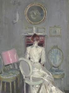 Paul-César Helleu (French, 1859-1927) Madame Helleu à son bureau