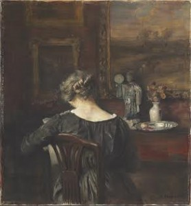 PROPERTY FROM THE FORBES COLLECTION Carl Vilhelm Holsøe (Danish, 1863-1935) Interior with the artist's wife.