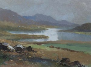 Liam Treacey (1934-2004) Misty Day, Recess, Connemara (600-800).