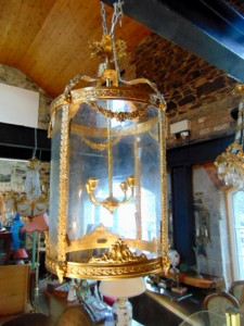 An antique lantern.