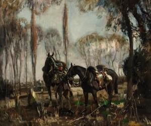 Sir Alfred Munnings - A Patrol in France.