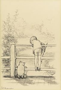 The Poohsticks drawing by E.H. Shepard made a world record price of £314,500.